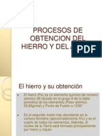 Procesos de Obtencion Del Acero