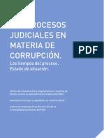 Los procesos judiciales en materia de corrupción