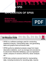 Application of SPSS