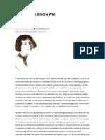 Vida y Obra de Simone Weil