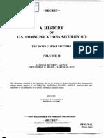 NSA a History of U S Communications Security Volume II