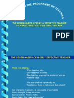 7 Habits of Highly Effective Teacher & Charact Ideal Teacher