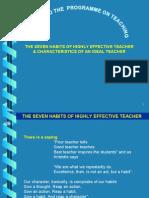 7 Habits of Highly Effective Teacher & Charact Ideal Teacher