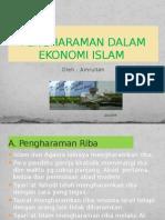 Pengharaman Dalam Ekonomi Islam