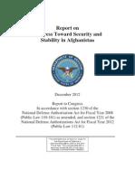 U.S. Department of Defense Afghanistan Progress Report