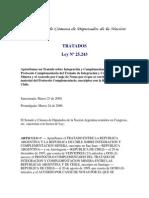 TRATADO ENTRE LA REPUBLICA ARGENTINA Y LA REPUBLICA DE CHILE SOBRE INTEGRACION Y COMPLEMENTACION MINERA