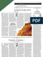 UNA VISIÓN DE LA CIUDAD QUE DESEAMOS Y NECESITAMOS  El plan de Lima hasta el año 2025