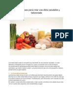 4 Pasos Para Crear Una Dieta Saludable y Balanceada