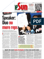 TheSun 2009-02-04 Page01 Speaker Duo No More Reps