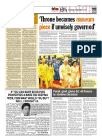 TheSun 2009-02-04 Page04 Throne Becomes Museum Piece if Unwisely Governed