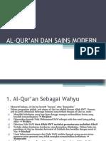 AL-QUR'AN DAN SAINS MODERN