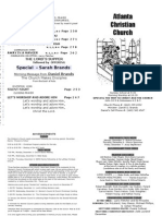 December 2, 2012 Church Bulletin
