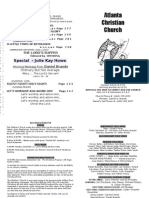 December 9, 2012 Church Bulletin
