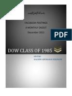DOW85/FB MAGAZINE DECEMBER 2012