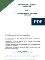 Aula 3 - Alcanos - Reacoes Radicalares e Halogenacao