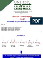 Aula 20 - Reações de compostos carbonílicos - Grupo I