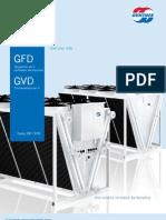 Catálogo GFD GVD Enfriador de fluidos enfriado por aire apra 19.6 a 168 tons