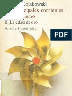 72494948 Kolakowski Leszec Las Principales Corrientes Del Marxismo Vol II La Edad de Oro 1977