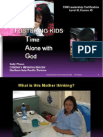 5) Revised -Fostering Kid's Time Alone with God