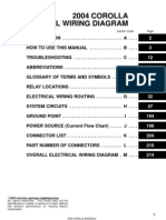 2004 Corolla Electrical Diagram -Index