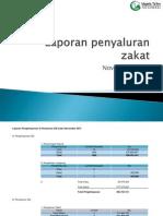 Laporan Penyaluran Zakat November 2012