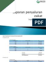 Laporan Penyaluran Zakat September 2012