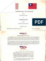 SS-426 - USS Tusk - Decommissioning Booklet - 18 October 1973
