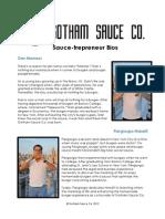 Gotham Sauce Company Bio