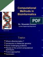 Computational Methods in Bioinformatics-Dr Elshafei