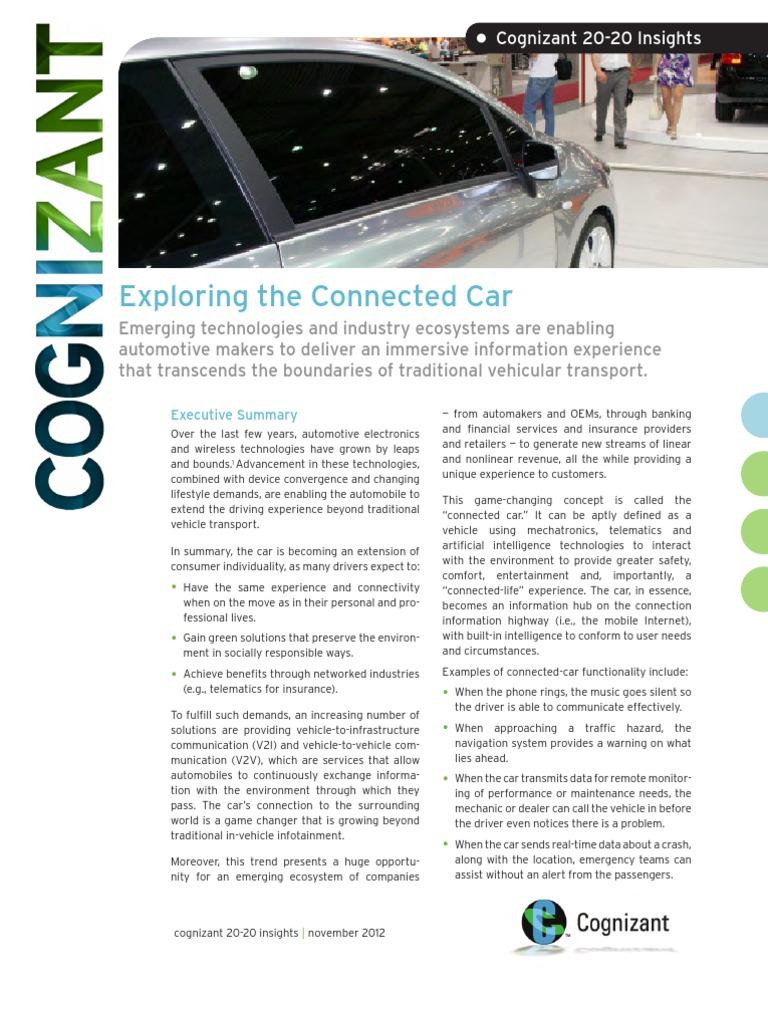 Exploring the Connected Car | Car | Cloud Computing