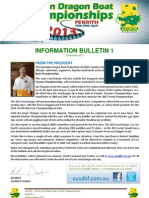 Bulletin 1 - 2013 AusDBF Australian Dragon Boat Racing Championships - 10 December 2013-1