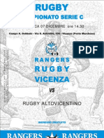 Pieghevole Rangers Rugby Vicenza 08-09 Nr.05