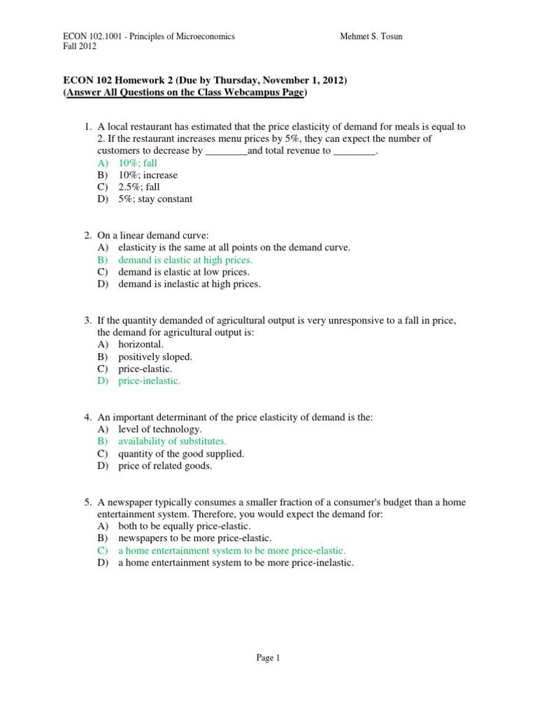 Homework help economics microeconomics