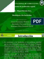 Resistencia a Los Herbicidas 2012