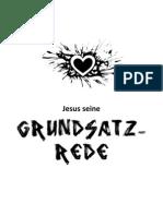 Jesus seine Grundsatzrede - Bergpredigt reloaded
