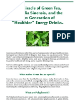 Green Tea, Camellia Sinensis, in Healthy Energy Drinks