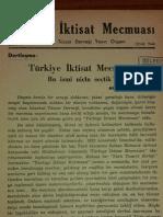 Ahmet Hamdi Başar - İktisat Mecmuası (İlk Yazı)