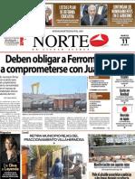 Periodico Norte de Ciudad Juárez 11 de Diciembre de 2012