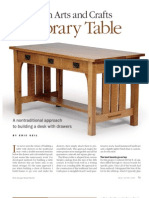 Woodworking - Plans - Library Table