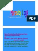 Lecture 4 (Porosity Logs)
