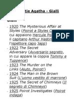 Christie 1 Gialli Cronologia&TitoliOriginali