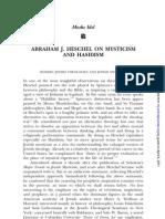 Moshe Idel-Abraham Joshua Heschel on Mysticism and Hasidism