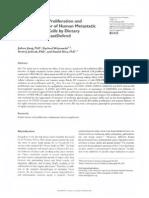 Suppression of proliferation and Invasive Behavior of Human Metastatic