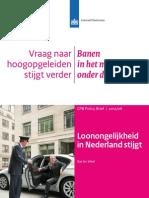 CPB-rapport over de arbeidsmarkt in Nederland