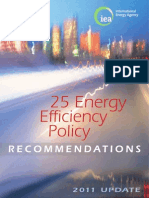 25 Energy Efficiency Policy- 2011 Update