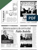 Versión impresa del periódico El mexiquense 11 de diciembre 2012