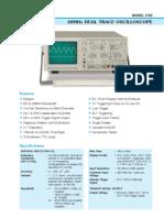 3702 - 20MHz Dual Trace Oscilloscope (2)