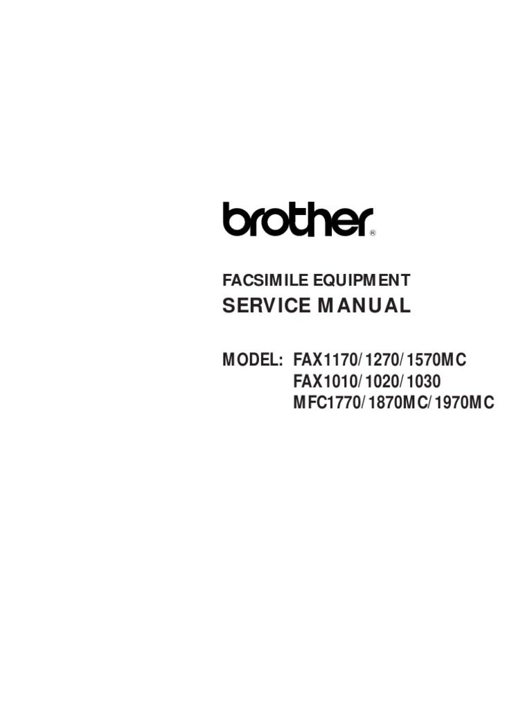 Brother Fax 1010, 1020, 1030, 1170, 1270, 1570mc, MFC-1770, 1870mc, 1970mc Service  Manual | Gear | Clutch