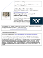 Measuring Construction Contractors' Organizational Learning
