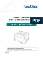Brother HL-1850, 1870n Parts Manual